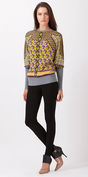 Batwing Melange Sweater in Ajak Knit