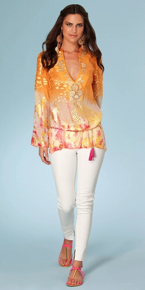 Long Sleeve Silk Tunic