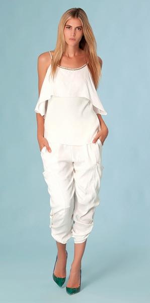 Silk Cargo Pants