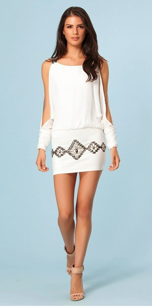 White Knit Dress