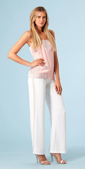 Wide Leg White Pants