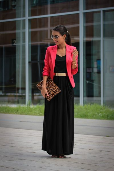 black maxi dress for the office
