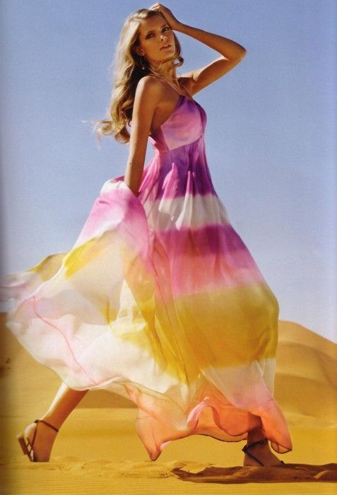 Summer tie dye dress
