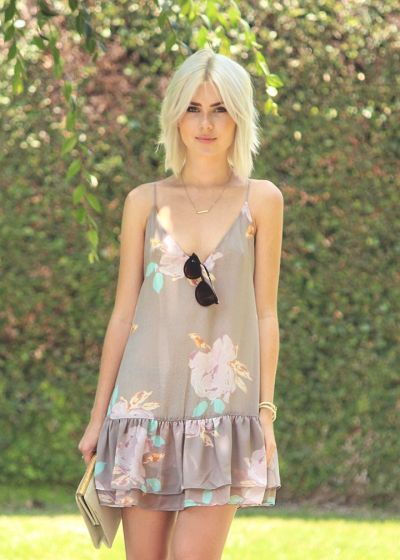 floral drop waist summer dress