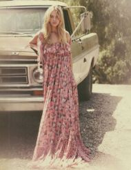 70's floral maxi dress for Spring
