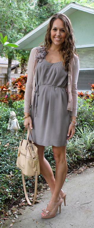 Grey colored dresses and blouses
