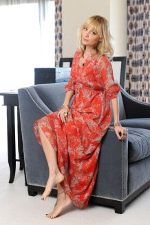 Nicole Richie floral mxi dress for Spring