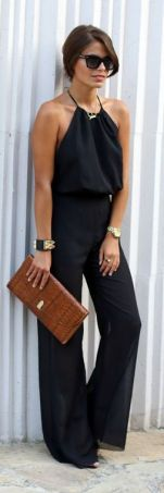 black jumpsuit for Summer