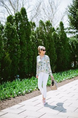 silk floral blouse summer style