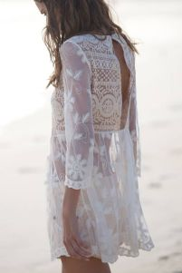white lace dress beach cover up