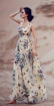 floral lace maxi dress for the beach