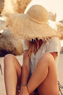 straw summer sun hat for the beach