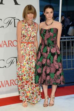 Anna Wintour and daughter in floral Summer dresses