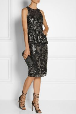 floral metallic dress with peplum