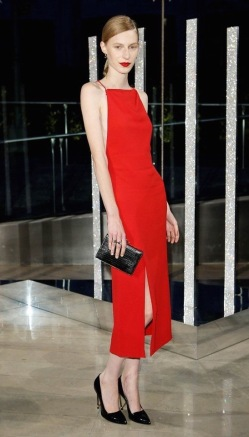 Jason Wu's cherry red dress