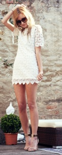 white lace dress summer date night