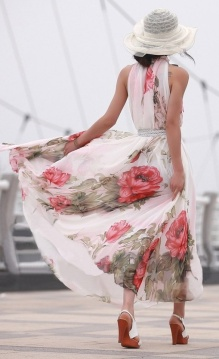 floral maxi dress summer style