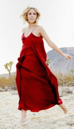 Cherry red maxi dress