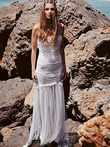 white strapless maxi dress for summer