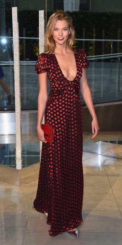 Diane von Furstenberg's polka dot maxi dress