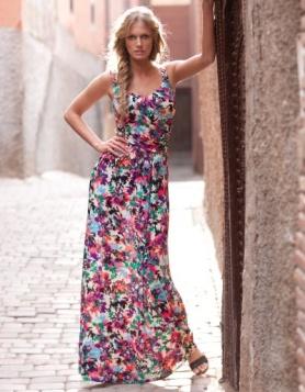 floral summer maxi dress
