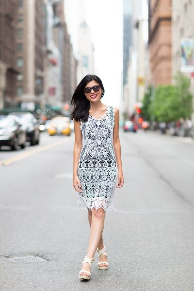 Summer Lace dress for the office