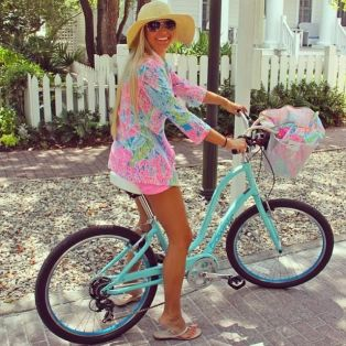 tropical printed tunic and shorts