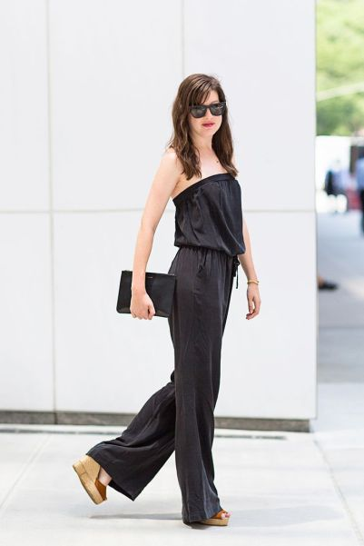 Black jumpsuit for the office place