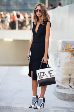 Summer black wrap dress for the workplace