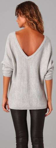 grey Liberty Garden loose long sleeve sweater