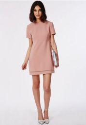 blush pink Liberty Garden shift dress