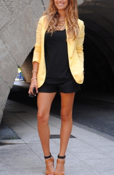 Summer shorts and blazer for the office