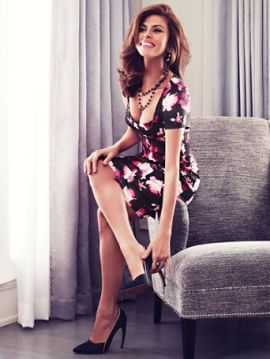Eva Mendes floral sheath dress for Summer date night