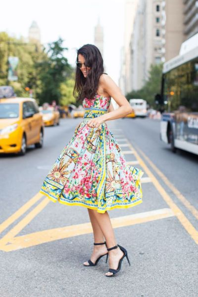 floral summer dress for the workplace