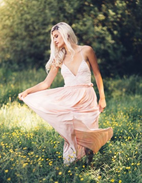 Liberty Garden Pink Lace Maxi Dress