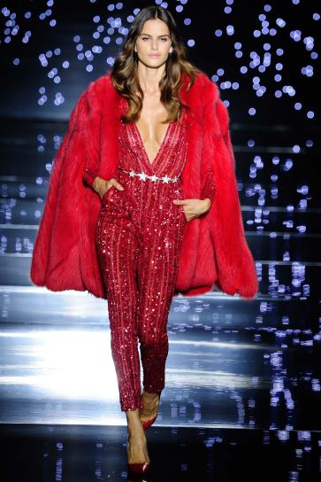 red jumpsuit Paris Fall Fashion Week