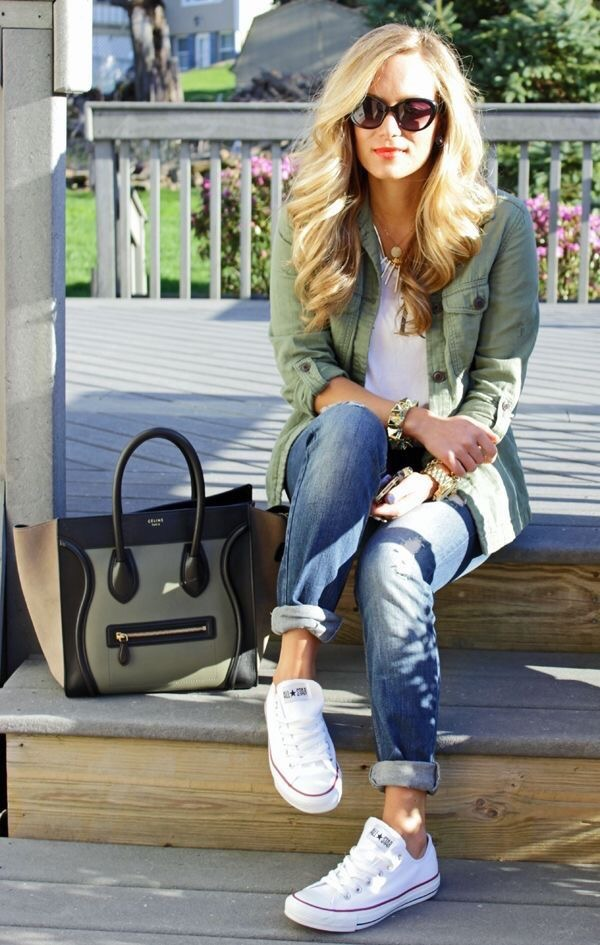 boyfriend cropped jeans and blazer Fall fashion