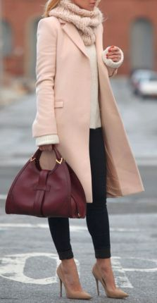 blush pink overcoat Fall 2015