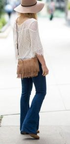 70's Boho fringe cross body bag