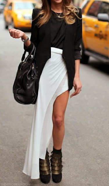 white maxi skirt for Fall