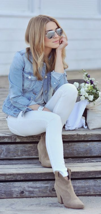 white skinny jeans for Fall
