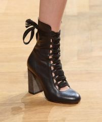 vintage ankle boot Chloe collection Fall 2015