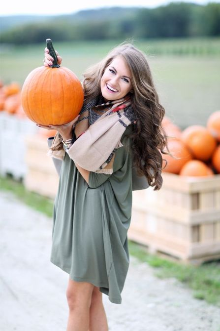 fall outfit in the pumpkin patch