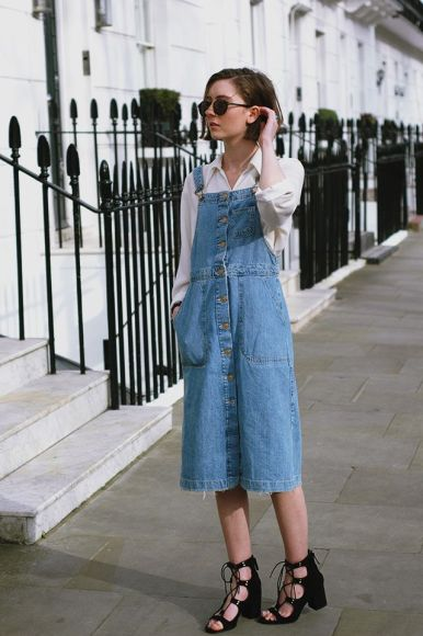 denim overall dress for Fall