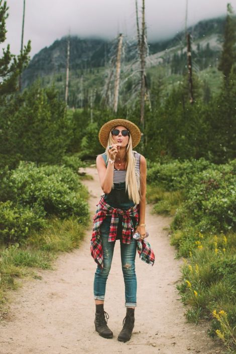 denim and plaid for Fall