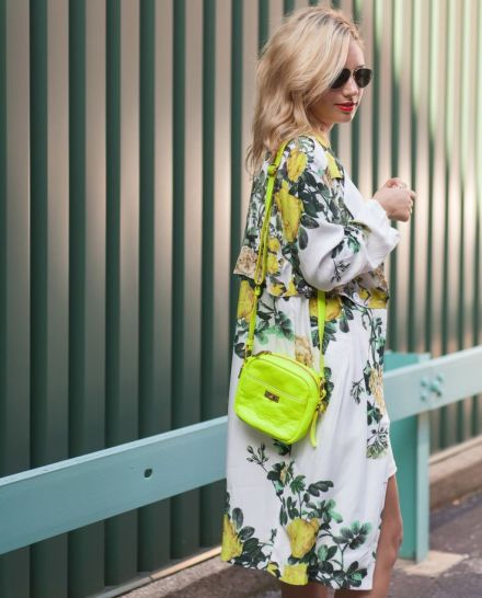 floral patterned trench coat in Miami