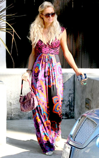 Paris-Hilton-100109-Hale-Bob-Maxi-Silk-Dress-Print-Exclusive-L