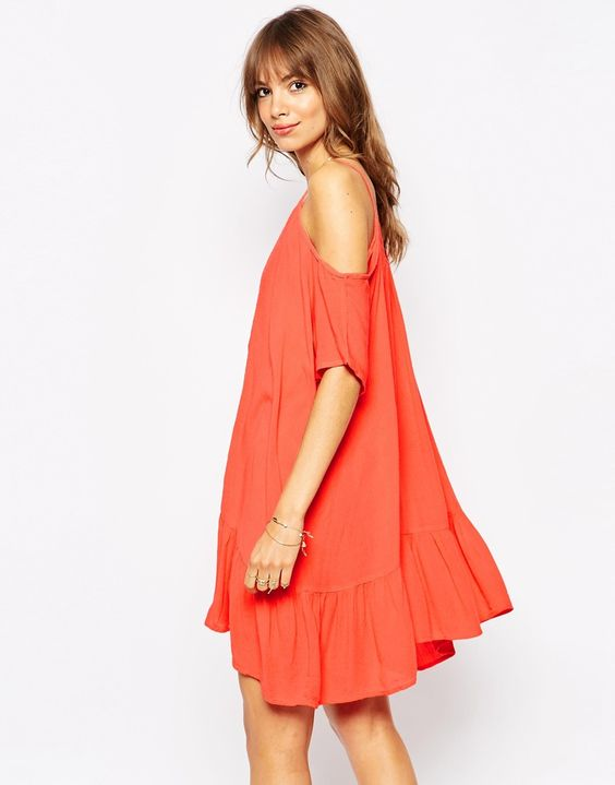 coral-dress