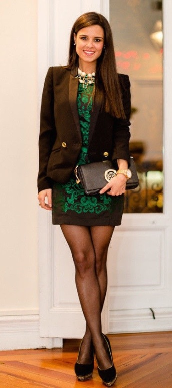 150677-little-black-dress-with-holiday-green-embroidery-blazer-1