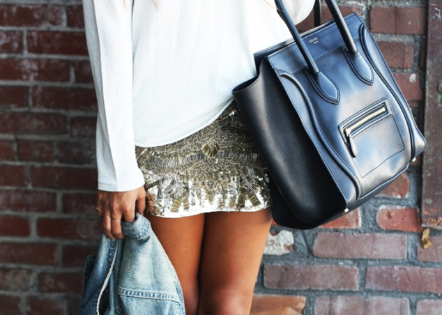 sequined-skirt